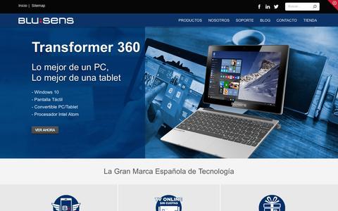 Screenshot of Home Page blusens.com - Electrónica de consumo, smartphones libres, WebTV, MP4 - captured Sept. 12, 2015