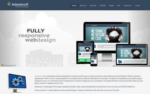Screenshot of Home Page adwebsoft.com - Web Experts   Adwebsoft - captured Dec. 24, 2015
