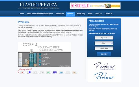 Screenshot of Products Page plasticpreview.com - Best Skincare Products | Best Beauty Products | PlasticPreview - captured Sept. 30, 2014