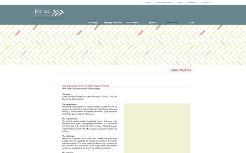 Screenshot of Case Studies Page imirtec.com - Mirtec. We speak sign language. case studies - captured Oct. 26, 2014