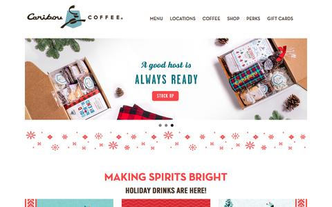 Screenshot of Home Page cariboucoffee.com - Caribou Coffee – Life is Short, Stay Awake for it - captured Nov. 13, 2019