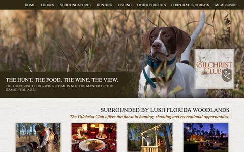 Screenshot of Home Page gilchristclub.com - Hunting Club in Florida | Gilchrist Club Trenton, FL - captured June 17, 2015