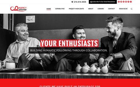Screenshot of Home Page agencyentourage.com - Agency Entourage - captured Dec. 1, 2015