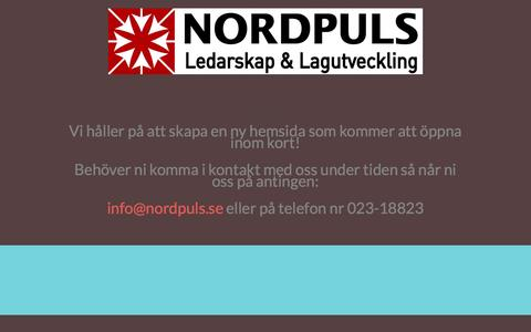 Screenshot of Home Page nordpuls.se - Home Page - captured Oct. 8, 2014