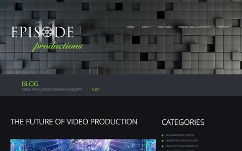 Screenshot of Blog episode11productions.com - Multimedia Blog for Episode 11 Productions in Charlotte - captured Nov. 9, 2016