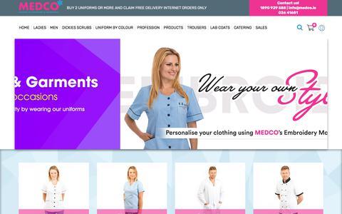 Screenshot of Home Page medco.ie - Nurses Uniforms | Nursing Scrubs - Medco - captured Oct. 18, 2017