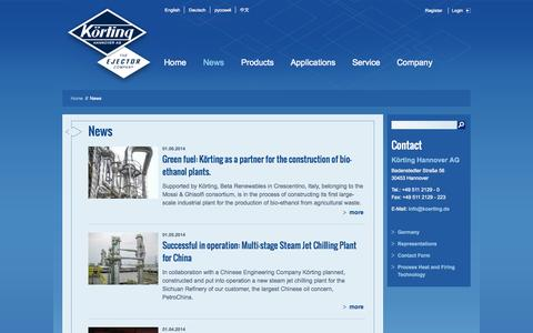 Screenshot of Press Page koerting.de - News - captured Oct. 6, 2014