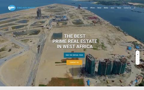 Screenshot of Home Page ekoatlantic.com - THE BEST PRIME REAL ESTATE IN WEST AFRICA - Eko Atlantic - captured May 15, 2017