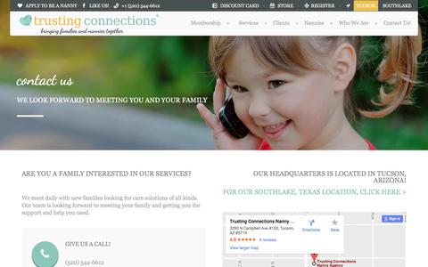 Screenshot of Contact Page trustingconnections.com - Contact Us! - Tucson Trusting Connections - captured Dec. 20, 2016