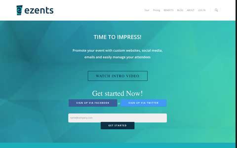 Screenshot of Home Page ezents.com - Ezents - A Time To Impress - captured Oct. 3, 2014