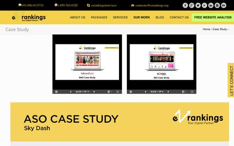 Screenshot of Case Studies Page ezrankings.org - Our Latest Case Studies - SEO, SMO, PPC | EZ Rankings - captured March 16, 2018