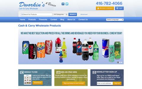 Screenshot of About Page dworkins.com - Cash & Carry Wholesale Food & Vending Products | Toronto | Dworkin's - captured Nov. 3, 2014