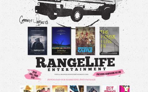 Screenshot of Home Page rangelifeentertainment.com - Range Life Entertainment - captured Sept. 30, 2014