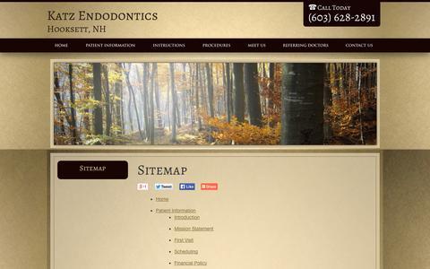 Screenshot of Site Map Page drdougkatz.com - Sitemap Hooksett NH, Katz Endodontics - captured Oct. 6, 2014