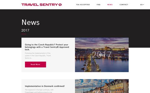 Screenshot of Press Page travelsentry.org - Read the latest news & press-releases from Travel Sentry - captured Nov. 6, 2017