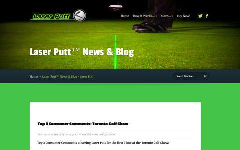Screenshot of Press Page laserputt.com - Laser Putt™ News & Blog - Laser Putt | Laser Putt - captured Sept. 30, 2014