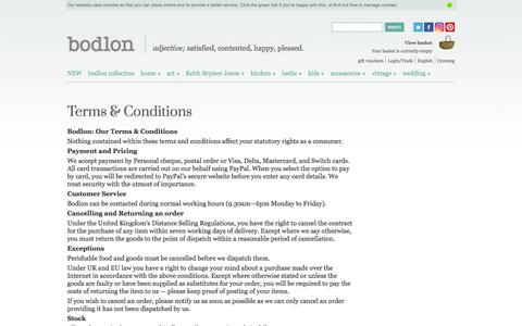 Screenshot of Terms Page bodlon.com - Bodlon Terms & Conditions | Bodlon - captured Aug. 3, 2018