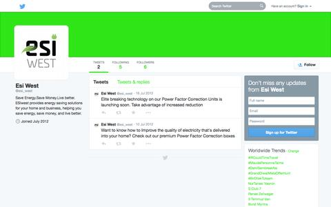 Screenshot of Twitter Page twitter.com - Esi West (@esi_west) | Twitter - captured Oct. 22, 2014