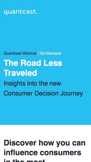 Quantcast Webinar | The Road Less Travelled