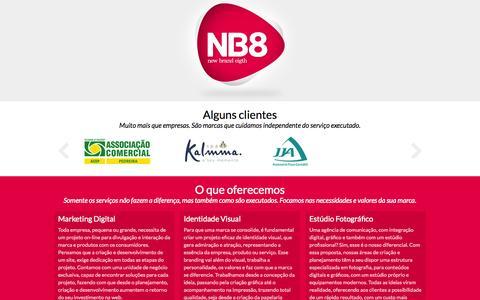 Screenshot of Home Page nb8.ag - Agência NB8 - captured Oct. 6, 2014