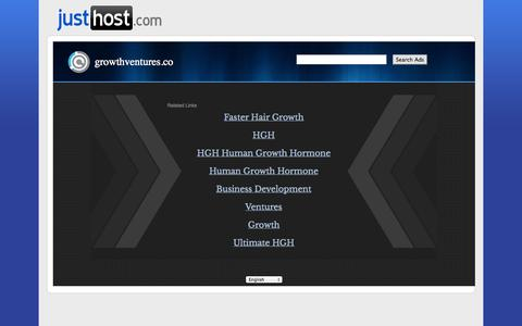 Screenshot of Home Page growthventures.co - Web hosting provider - Justhost.com - domain hosting - PHP Hosting - cheap web hosting - Frontpage Hosting E-Commerce Web Hosting Justhost - captured Sept. 30, 2014
