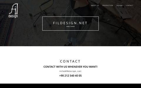 Screenshot of Contact Page fildesign.net - Contact – Fıldesıgn.net - captured June 6, 2017