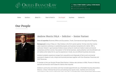 Screenshot of Team Page okells-law.co.uk - Okells Francis Law LLP - Our PeopleOkells Francis Law LLP - captured April 9, 2016