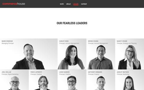 Screenshot of Team Page commercehouse.com - Commerce House | People | Full Service Advertising Agency - captured May 20, 2017