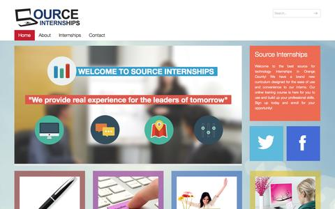 Screenshot of Home Page sourceinternships.com - Source Internship Program - captured Sept. 30, 2014