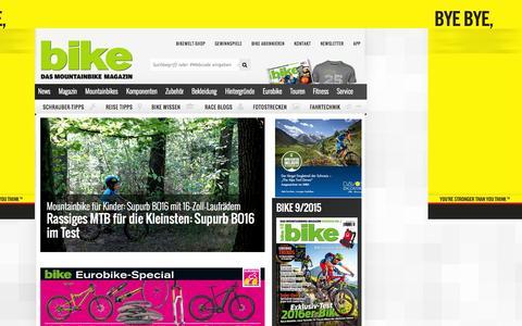 Screenshot of Home Page bike-magazin.de - BIKE - das Mountainbike Magazin - captured Aug. 8, 2015