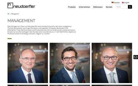 Screenshot of Team Page neudoerfler.com - Management Archives   neudoerfler - captured June 12, 2017