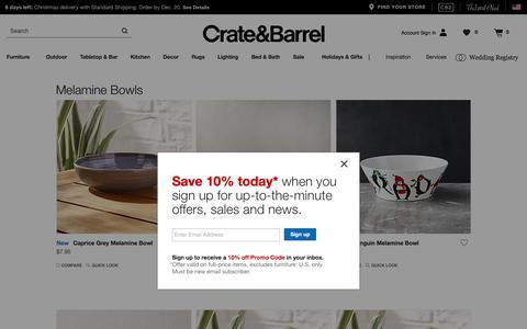 Melamine Bowls   Crate and Barrel