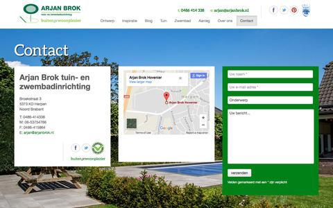 Screenshot of Contact Page arjan-brok.nl - Contact - Arjan Brok - captured Oct. 8, 2017