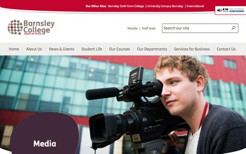Screenshot of Press Page barnsley.ac.uk - Media - Barnsley College - captured July 3, 2016