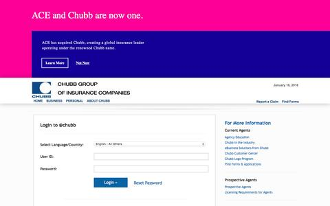 Login to @chubb