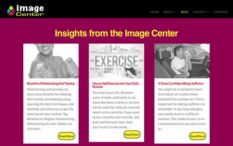 Screenshot of Blog adrianimagecenter.com - Blog Articles about Fitness, Tanning, Looking Good and Feeling Great! - captured Sept. 25, 2018