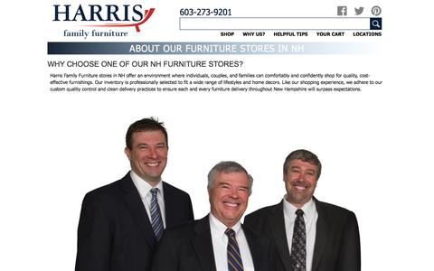 Screenshot of About Page harrisfamilyfurniture.com - About Our Furniture Stores in NH - Harris Family Furniture - captured May 15, 2017