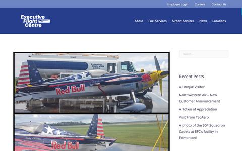 Screenshot of Press Page efcaviation.ca - News | Executive Flight Centre - captured Sept. 30, 2018