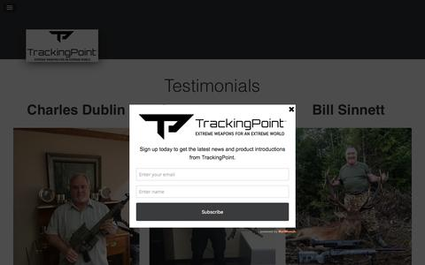 Screenshot of Testimonials Page tracking-point.com - Testimonials - TrackingPoint - captured May 9, 2017