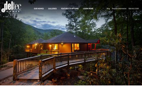 Screenshot of Home Page deltechomes.com - Prefabricated Homes | Green, Strong Prefab Homes | Deltec Homes - captured Jan. 7, 2016