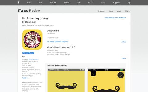 Screenshot of iOS App Page apple.com - Mr. Brown Apptakes on the App Store on iTunes - captured Oct. 23, 2014