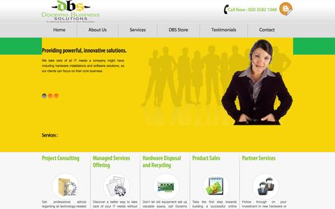 Screenshot of Services Page docemo.co.uk - IT Support - IT Services - Managed Services Offering - Docemo - captured Oct. 5, 2014