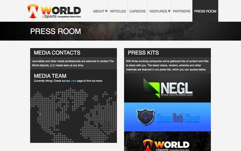 PRESS ROOM – World eSports, LLC