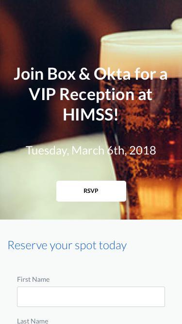Box & Okta HIMSS VIP Reception