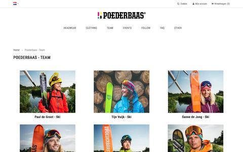 Screenshot of Team Page poederbaas.com - Poederbaas - Poederbaas - Team - captured May 19, 2017