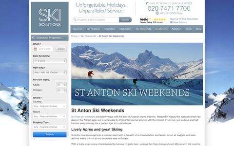 St Anton Ski Weekends | Austria | Ski Solutions