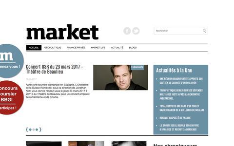 Market.ch,le nouveau magazine de la finance, de l'économie et des cultures-Accueil