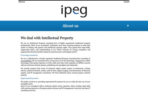 Screenshot of About Page ipegconsultancy.com - IPEG Consultancy » About us - captured Oct. 4, 2014