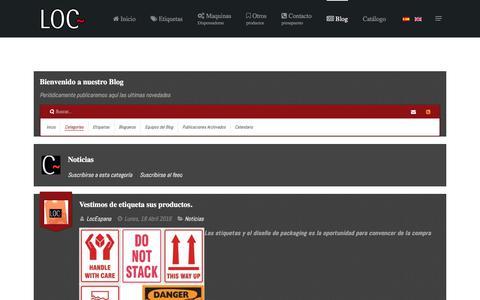 Screenshot of Blog locespana.es - Blog Loc España - captured July 5, 2017