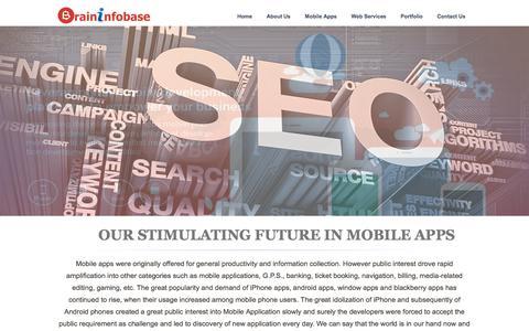 Screenshot of Home Page braininfobase.com - India To Cross U.S. Become Second-Largest Internet Market Soon - Brininfobase Technologies - captured Feb. 8, 2016